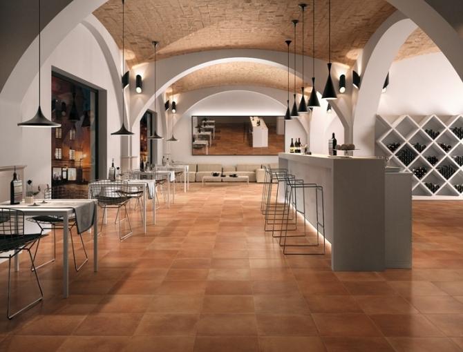 Prezzo matto for Arredamento moderno su pavimento in cotto