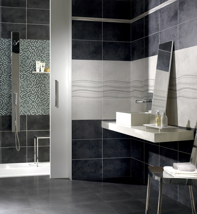 rivestimenti bagno moderno mosaico: rivestimento bagno e ante ... - Rivestimenti Bagno Moderno Piccolo